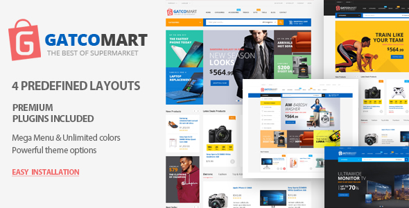 Gatcomart - eCommerce WordPress Themes