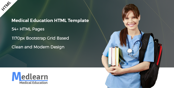 Medlearn - Medical Education HTML Template (Nonprofit) Medlearn - Medical Education HTML Template (Nonprofit) preview