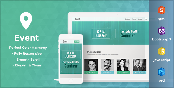 Event - HTML Landing Page Template