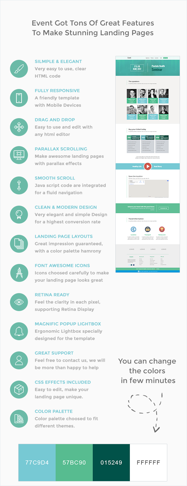 Event - HTML Landing Page Template - 1