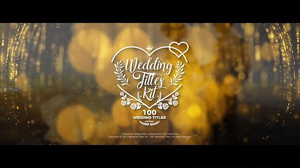 VideoHive Wedding Titles Kit 100 Titles 19434063