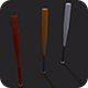 Low Poly Baseball bats