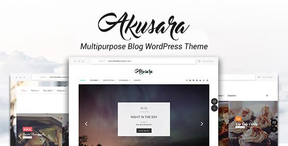 Akusara – Multipurpose Blog Theme (Personal) Download