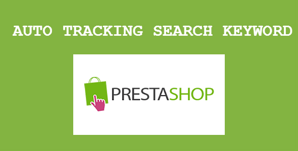 Auto tracking search keyword Prestashop Module