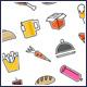 Tasty Food Icons Set