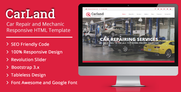 Carland car repair and mechanic responsive html template retail carland car repair and mechanic responsive html template retail maxwellsz