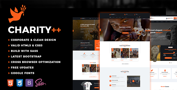 Charity Plus - Nonprofit, Crowdfunding & Charity HTML5 Template