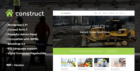 Construct - Construction & Business WordPress Them