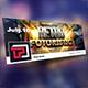 Retro Futuristic Facebook Cover Template