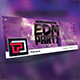 EDM Party Facebook Cover Template