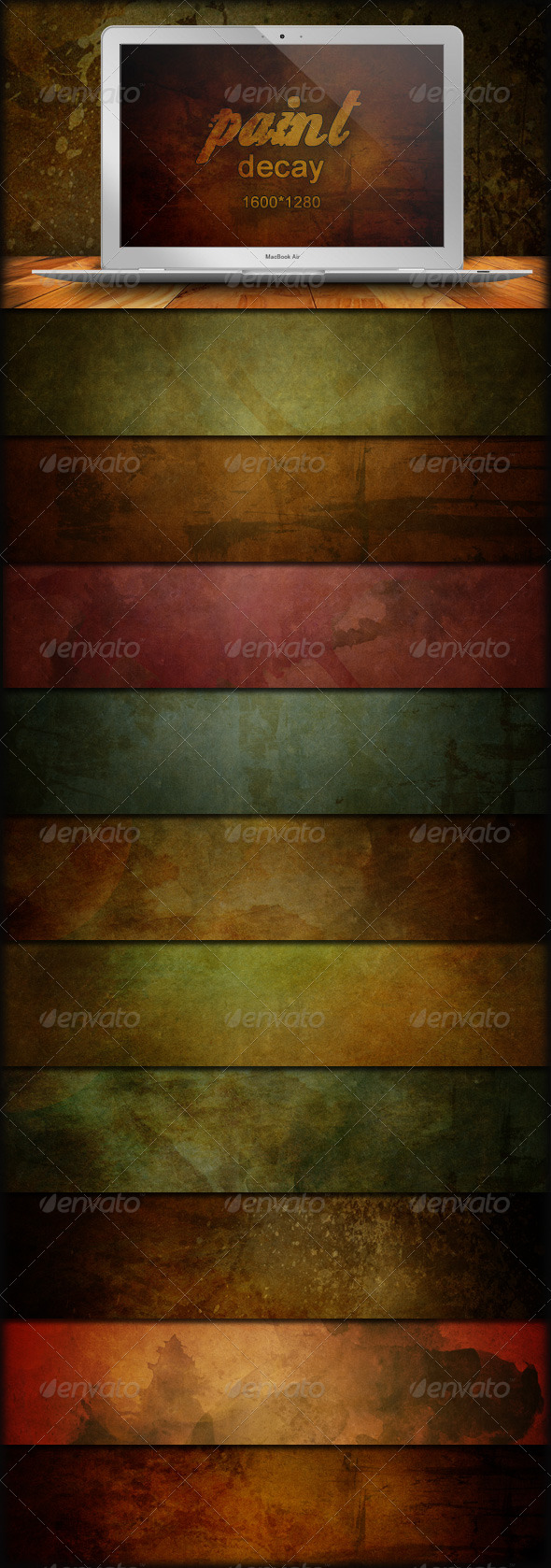 45 Grunge Backgrounds - Paint Decay - Backgrounds Graphics