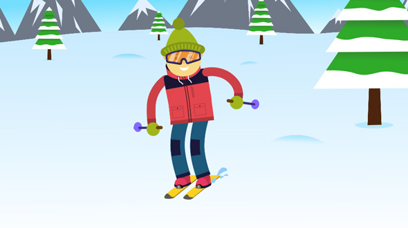 VideoHive Skiing Logo 19436603