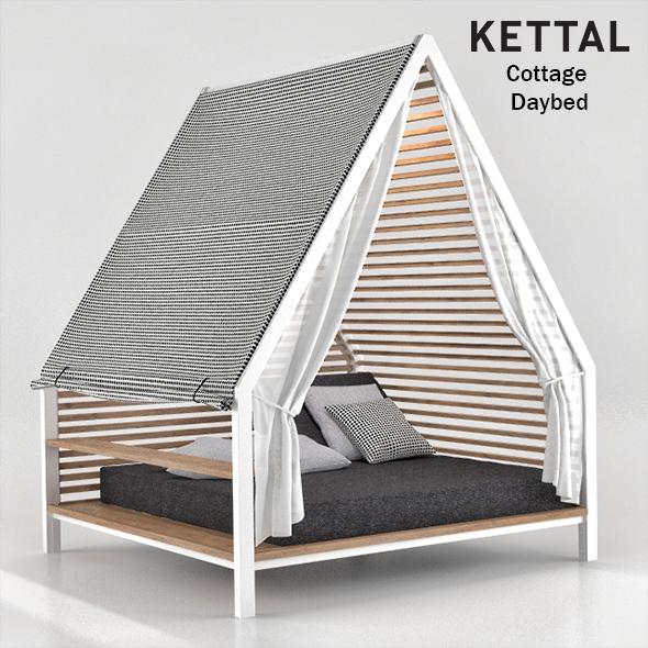Kettal Cottage Daybed - 3DOcean Item for Sale