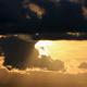 Layered Clouds Golden Sunset
