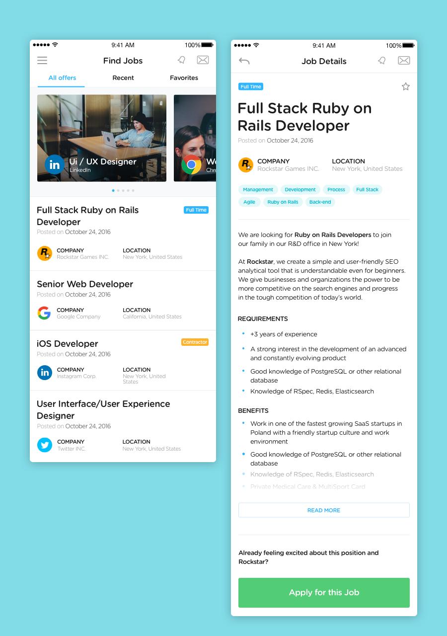 ionic developer jobs ionic framework jobs list app by anesumuz a beautiful ionic framework jobs listing app