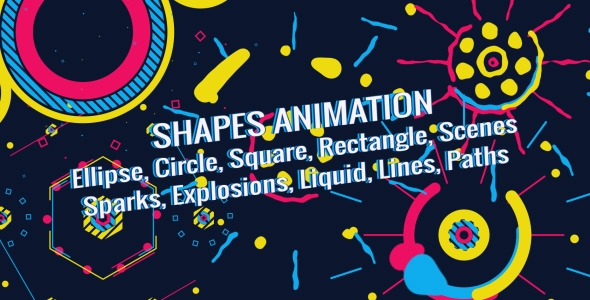 Shapes Animated Elements Pack (Abstract) After Effects Templates