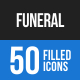 Funeral Blue & Black Icons