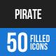 Pirate Blue & Black Icons