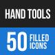 Hand Tools Blue & Black Icons