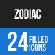 Zodiac Blue & Black Icons