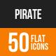 Pirate Flat Round Icons