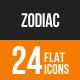 Zodiac Flat Round Icons