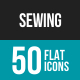 Sewing Flat Multicolor Icons