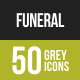 Funeral Greyscale Icons