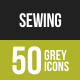 Sewing Greyscale Icons