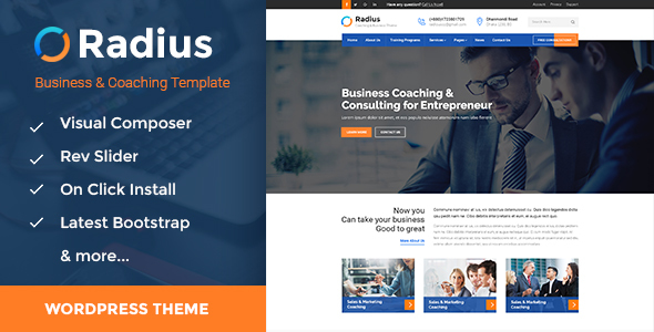 Radius - Training, Coaching, Consulting & Business WordPress Theme