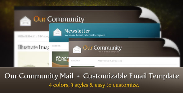Our Community Mail + Customizable Email Template
