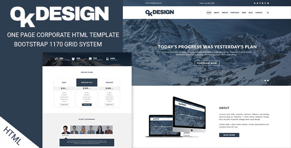 OkDesign - One Page Multipurpose Html Template