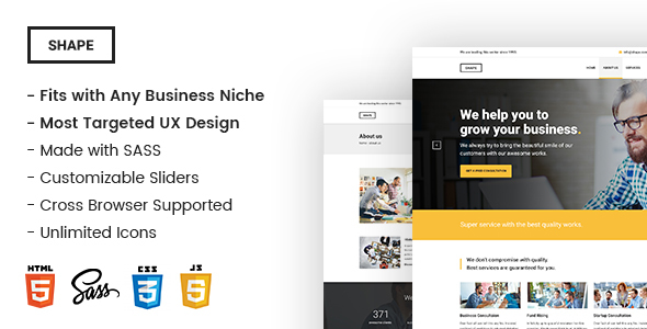 Download Shape - Ultimate Responsive Business Template for Any Niche