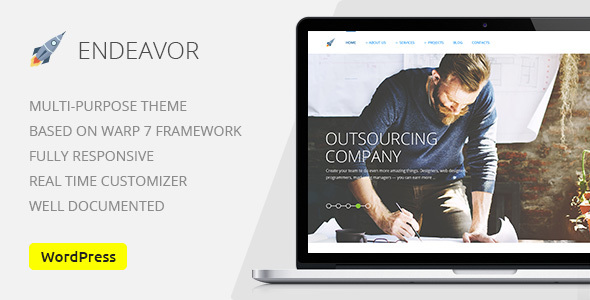 Endeavor — Multipurpose IT Company | Business, Finance WordPress Theme
