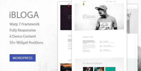 iBloga — Photo, Fashion, Music, Nightlife, Literary & Art Professional Blog Template