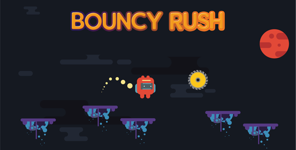 Bouncy Rush - 1080p Endless HTML5 Construct 2 Game