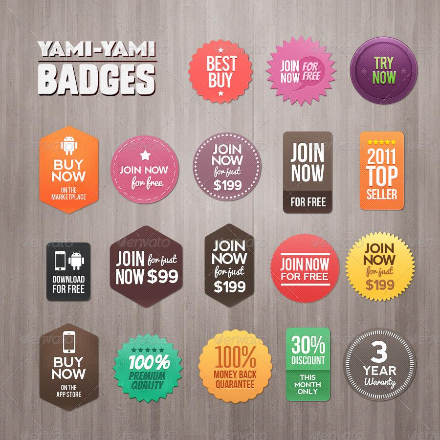 Yami Yami Badges