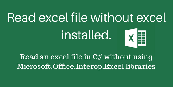Read excel file without excel install