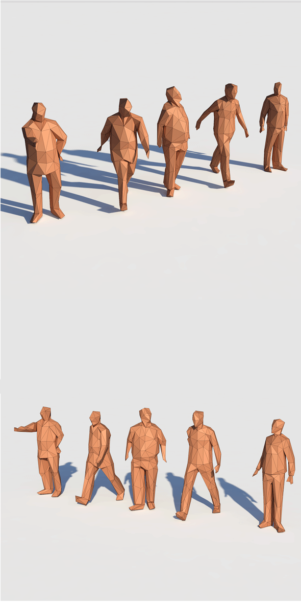 Low Poly Posed People 1 - 3DOcean Item for Sale