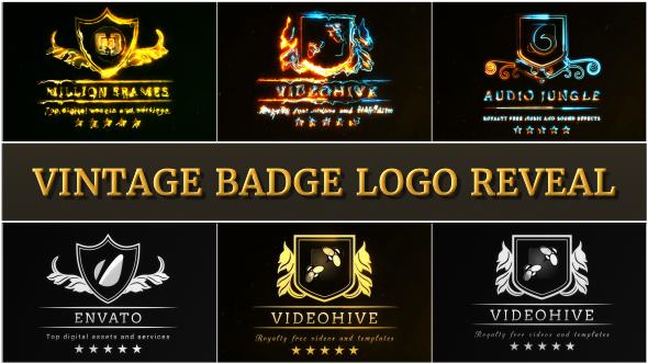 VideoHive Vintage Badge Logo Reveal 19441880