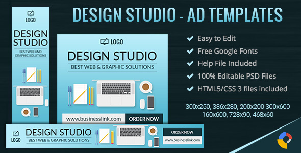 GWD | Web & Graphic Design Studio Ad Banners - 7 Sizes