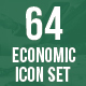 64 Economic Icons Set