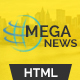 Mega News - Multipurpose News Magazine Responsive Template