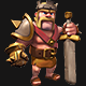 Barbarian King Clash of Clans 3D PRINTER