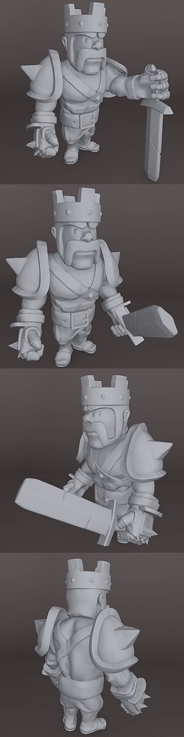 Barbarian King Clash of Clans 3D PRINTER - 3DOcean Item for Sale