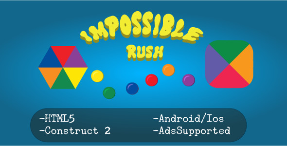 Download Impossible Rush (HTML5 Game + Construct 2 CAPX)