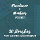 30 Adobe Illustrator Brushes Fineliner Plus Markers
