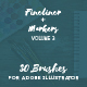 30 Adobe Illustrator Brushes Fineliner Plus Marker Volume 3