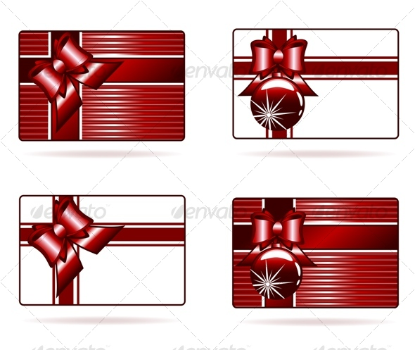 Vector llustration of the gift cards