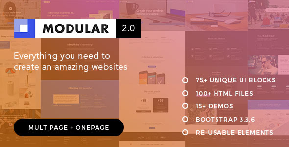 Modular | The Multi-Purpose Responsive HTML5 Template